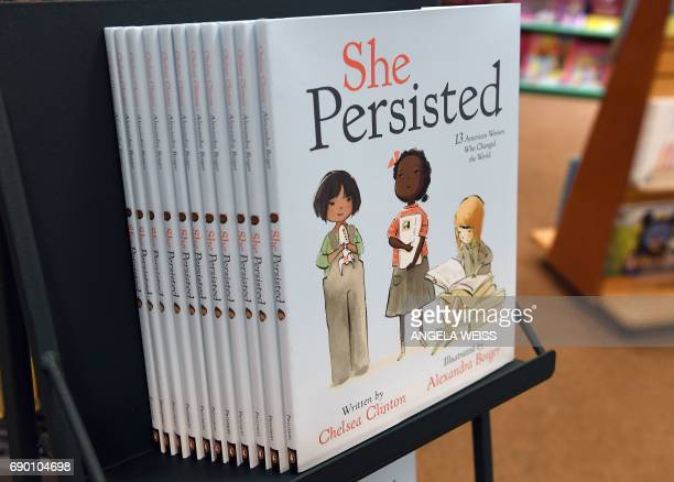Chelsea Clinton's new book 'She Persisted' a title that plays off the now infamous words of Senate Majority Leader Mitch McConnell is on display at...