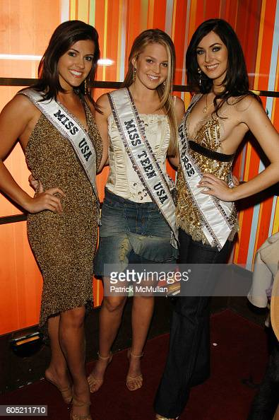 Chelsea Cooley Allie Laforce and Natalie Glebova attend Joonbug hosts the launch of GoTrumpcom sponsored by Blue Star Jets at Marquee NYC USA on...