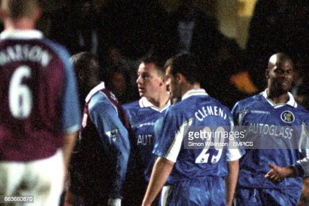 Chelsea debutant John Terry gets involved in the fracas