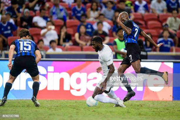 Chelsea Defender Antonio Rudiger fights for the ball with FC Internazionale midfielder Geoffrey Kondogbia during the International Champions Cup 2017...