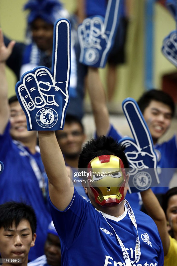A Chelsea fan during the match between Chelsea and Malaysia XI on July 21, 2013 at the Shah Alam Stadium in Shah Alam, Kuala Lumpur, Malaysia.Chelsea won 4-1.