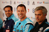 Chelsea FC captain John Terry speaks to the media during press conference at the Park Hyatt Hotel on May 31 2015 in Sydney Australia