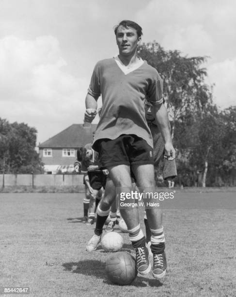 Chelsea FC footballer Jimmy Greaves in training at the Wimbledon Park Athletic Club in Ewell Surrey 4th August 1960