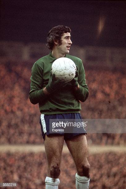 Chelsea FC goalkeeper Peter Bonetti during a match against Manchester United FC