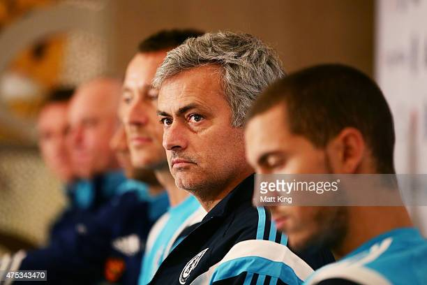 Chelsea FC Manager Jose Mourinho speaks to the media during a press conference at the Park Hyatt Hotel on May 31 2015 in Sydney Australia