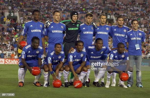 Chelsea FC players attend Chelsea FC and InterMilan soccer match benefitting LAFC Chelsea and Africa Outreach Project at The Rose Bowl on July 21...