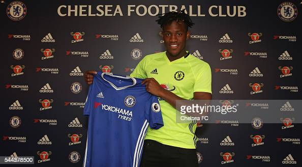 Chelsea FC's new signing Michy Batshuayi at Chelsea Training Ground on July 3 2016 in Cobham England