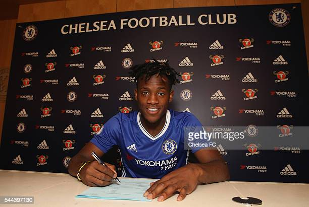 Chelsea FC's new signing Michy Batshuayi at Chelsea Training Ground on July 2 2016 in Cobham England