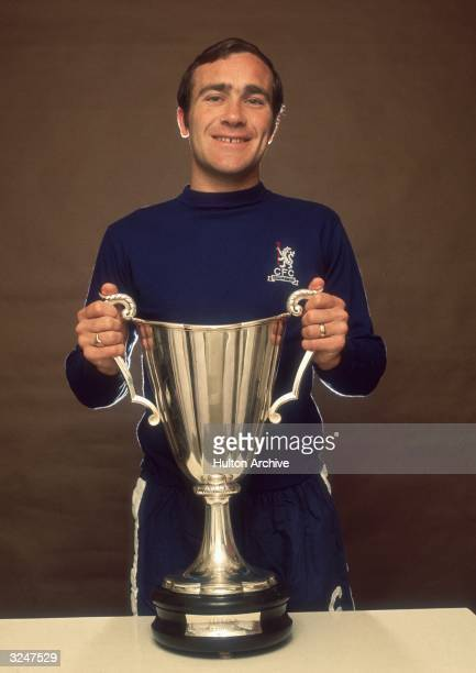 Chelsea Football Club captain Ron Harris holding the European CupWinners' Cup