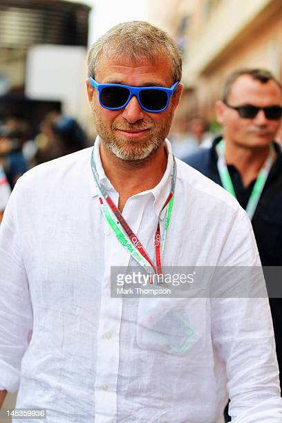 Chelsea Football Club owner and businessman Roman Abramovich is seen in the paddock before the Monaco Formula One Grand Prix at the Circuit de Monaco...