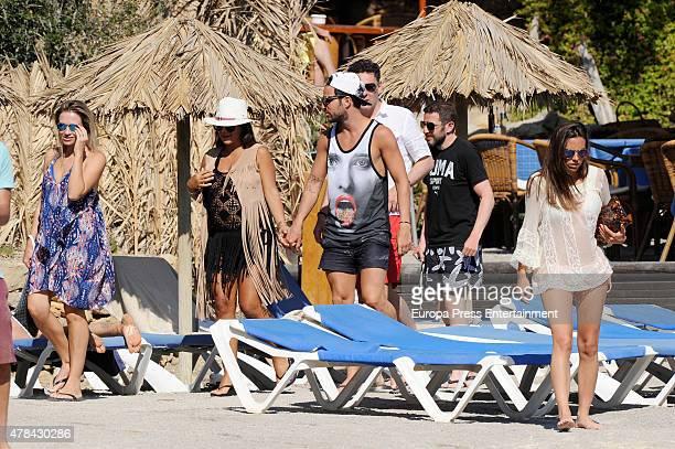 Chelsea football player Cesc Fabregas and Daniella Semaan are seen on June 24 2015 in Ibiza Spain