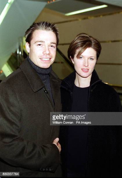 Chelsea footballer player Graeme le Saux and his wife Mariana arriving at the Warner Village Cinema in London's Leicester Square for the celebrity...