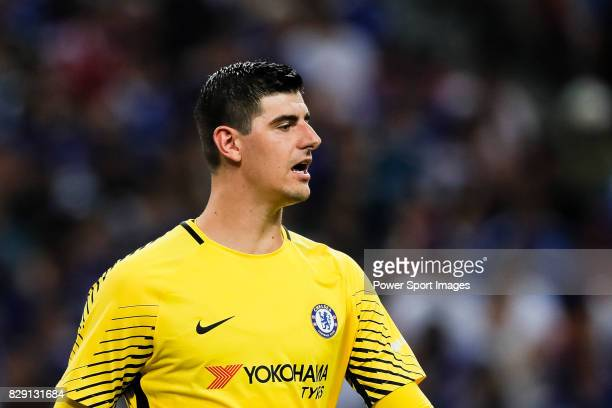 Chelsea Goalkeeper Thibaut Courtois in action during the International Champions Cup match between Chelsea FC and FC Bayern Munich at National...