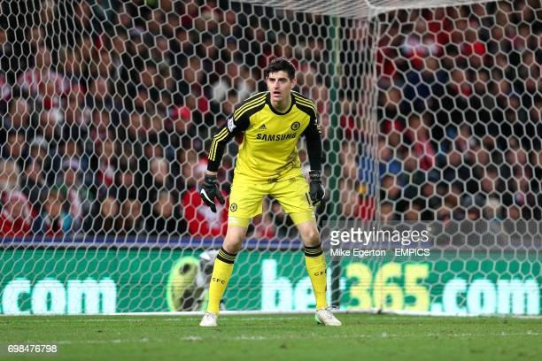 Chelsea goalkeeper Thibaut Courtois