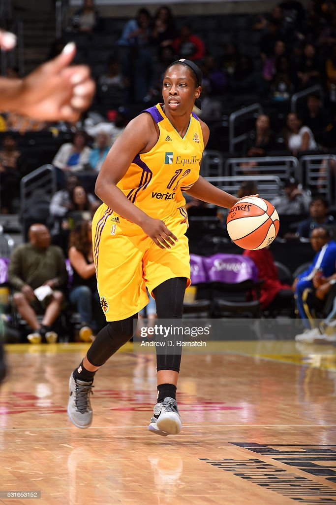 <a gi-track='captionPersonalityLinkClicked' href=/galleries/search?phrase=Chelsea+Gray&family=editorial&specificpeople=7420247 ng-click='$event.stopPropagation()'>Chelsea Gray</a> #12 of the Los Angeles Sparks handles the ball during the game against the Seattle Storm on May 15, 2016 at Staples Center in Los Angeles, California.