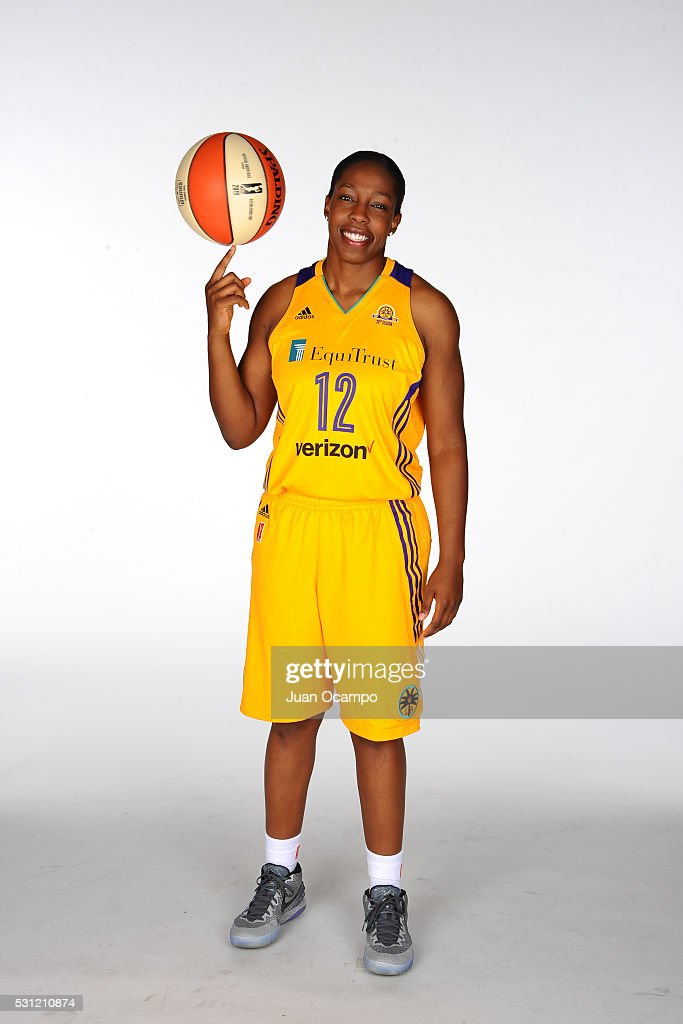 <a gi-track='captionPersonalityLinkClicked' href=/galleries/search?phrase=Chelsea+Gray&family=editorial&specificpeople=7420247 ng-click='$event.stopPropagation()'>Chelsea Gray</a> #12 of the Los Angeles Sparks poses for a portrait during the Los Angeles Sparks media day on May 12, 2016 at St. Mary's High School in Inglewood, California.