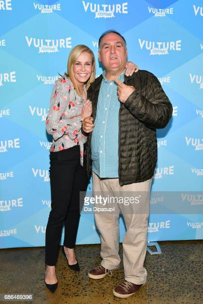 Chelsea Handler and Chef Jose Andres attend the 2017 Vulture Festival at Milk Studios on May 21 2017 in New York City