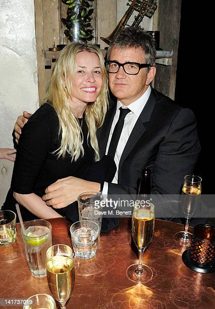 Chelsea Handler and Jay Jopling attend a private dinner celebrating the Spring/Summer issue of Another Man magazine and the UK launch of BLK DNM at...
