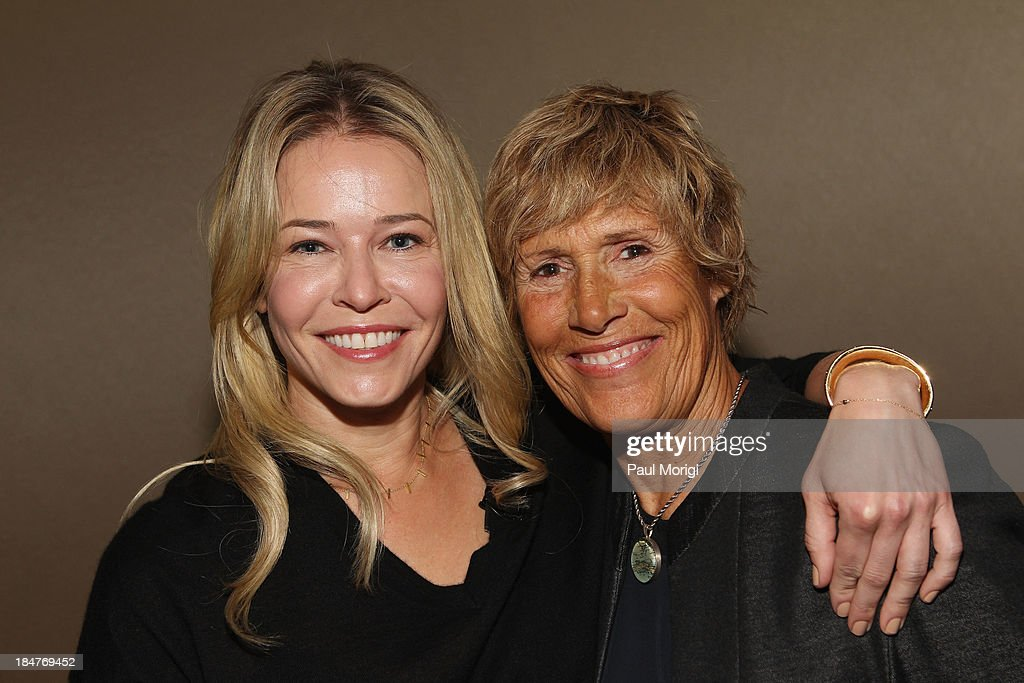 Chelsea Handler and longdistance swimmer Diana Nyad attend the FORTUNE Most Powerful Women Summit on October 16 2013 in Washington DC