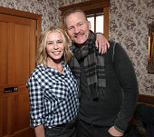 Chelsea Handler and Morgan Spurlock attend the Cinema Cafe Conversation on January 23 2016 in Park City Utah