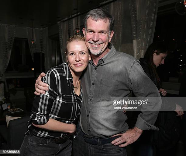 Chelsea Handler and Netflix CEO Reed Hastings attend the 'Chelsea Does' Netflix Party at Tupelo at Sundance on January 22 2016 in Park City Utah