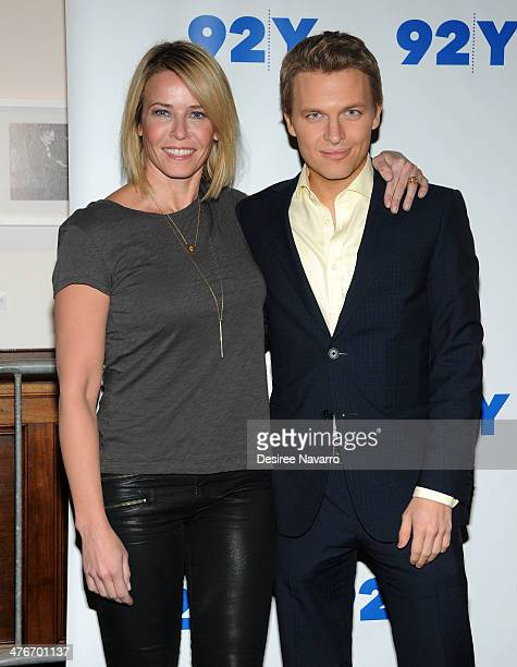 Chelsea Handler and Ronan Farrow attend An Evening With Chelsea Handler And Ronan Farrow at 92nd Street Y on March 4 2014 in New York City