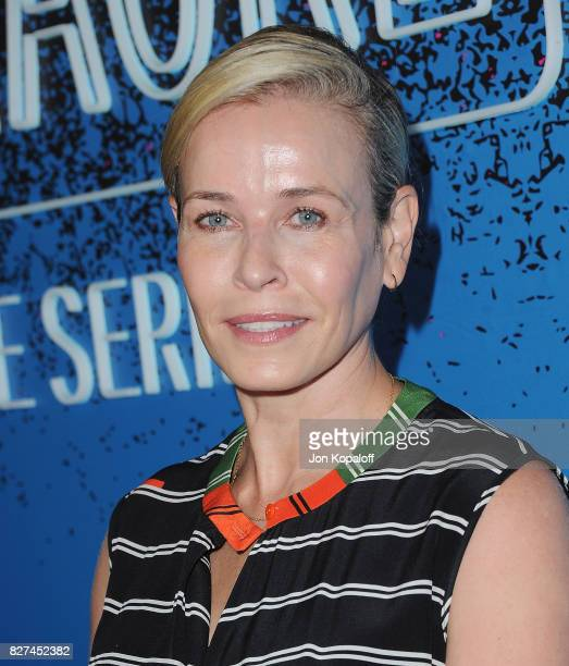 Chelsea Handler arrives at 'Carpool Karaoke The Series' On Apple Music Launch Party at Chateau Marmont on August 7 2017 in Los Angeles California