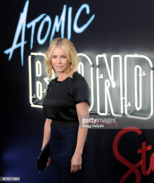 Chelsea Handler arrives at the premiere of Focus Features' 'Atomic Blonde' at The Theatre at Ace Hotel on July 24 2017 in Los Angeles California