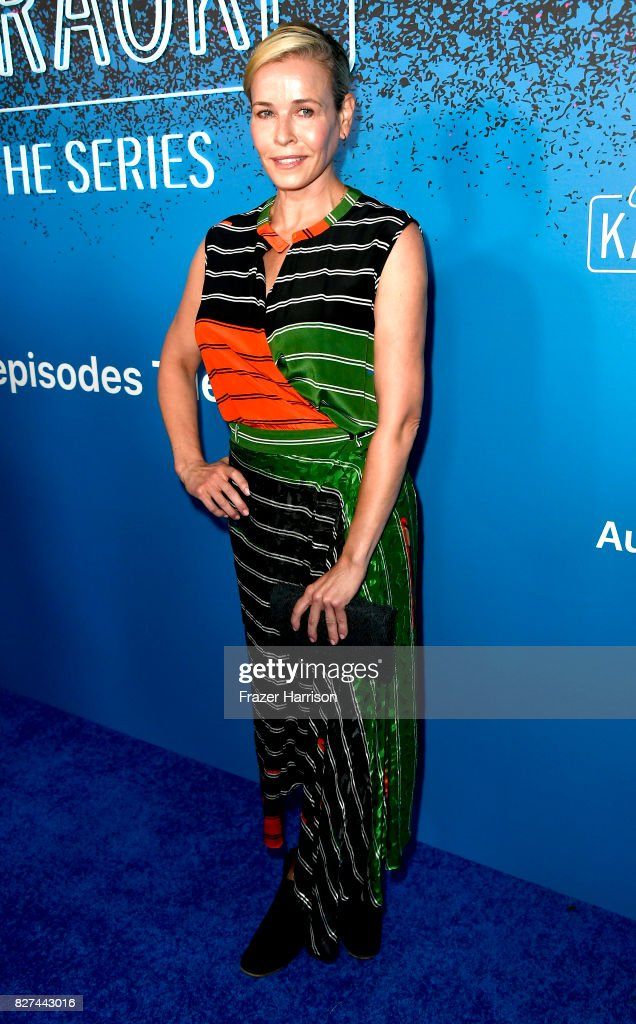 Chelsea Handler attends 'Carpool Karaoke: The Series' On Apple Music Launch Party at Chateau Marmont on August 7, 2017 in Los Angeles, California.