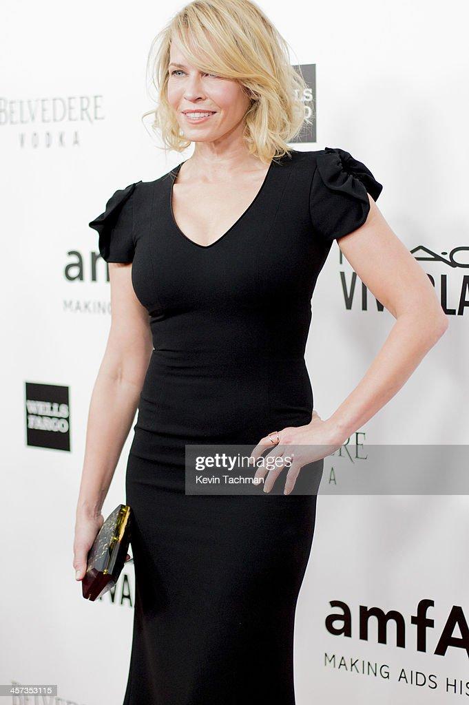 Chelsea Handler attends the 2013 amfAR Inspiration Gala Los Angeles at Milk Studios on December 12, 2013 in Los Angeles, California.