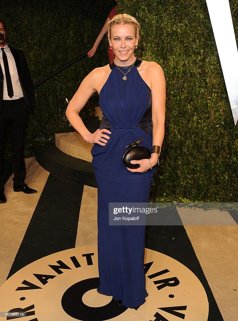 Chelsea Handler attends the 2013 Vanity Fair Oscar party at Sunset Tower on February 24, 2013 in West Hollywood, California.
