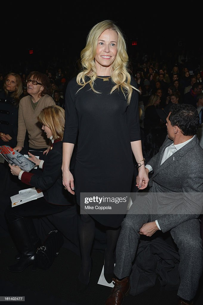 Chelsea Handler attends the Diane Von Furstenberg Fall 2013 fashion show during Mercedes-Benz Fashion at The Theatre at Lincoln Center on February 10, 2013 in New York City.