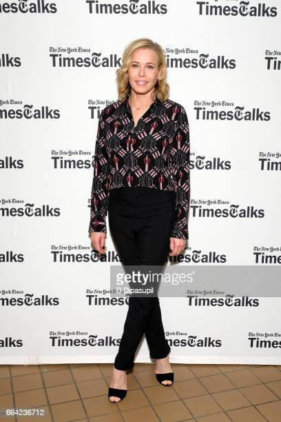 Chelsea Handler attends TimesTalks Presents Gloria Steinem x Chelsea Handler at John Zuccotti Theater at BMCC Tribeca Performing Arts Center on April...