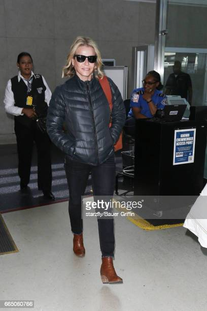 Chelsea Handler is seen at LAX on April 05 2017 in Los Angeles California