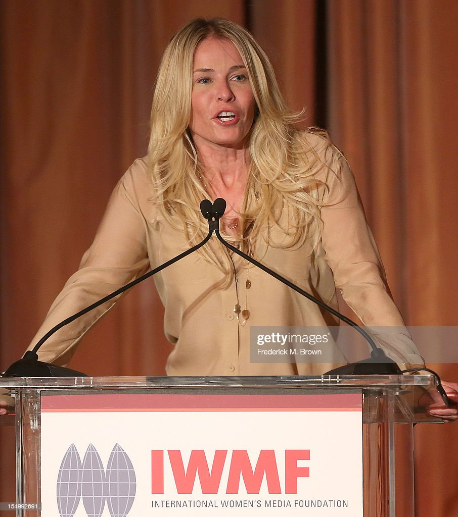 Chelsea Handler speaks during the 2012 International Women's Media Foundation's Courage In Journalism Awards at The Beverly Hills Hotel on October 29, 2012 in Beverly Hills, California.