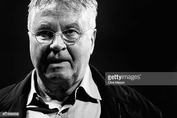 Chelsea interim manager Guus Hiddink is seen after the Barclays Premier League match between Chelsea and Sunderland at Stamford Bridge on December 19...
