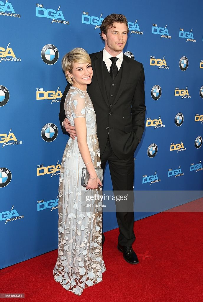 Chelsea Kane and Derek Theler attend the 66th Annual Directors Guild Of America Awards held at the Hyatt Regency Century Plaza on January 25, 2014 in Century City, California.