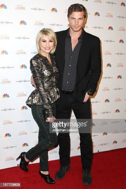 Chelsea Kane and Derek Theler attend the Raising The Bar To End Parkinson's on December 5 2012 in Culver City California