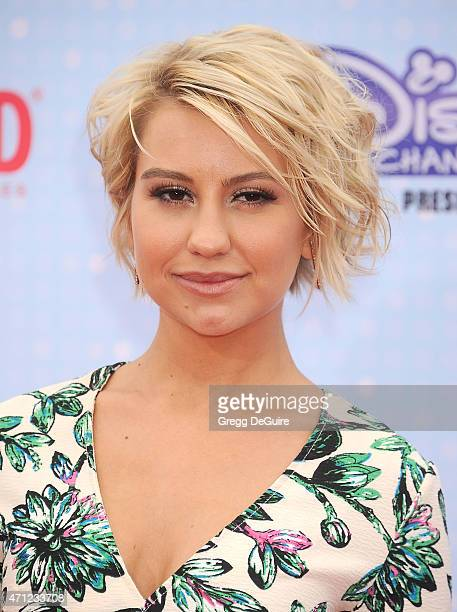 Chelsea Kane arrives at the 2015 Radio Disney Music Awards at Nokia Theatre LA Live on April 25 2015 in Los Angeles California