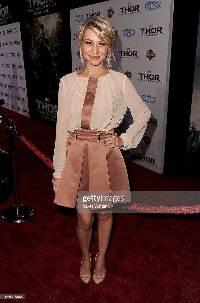 <a gi-track='captionPersonalityLinkClicked' href=/galleries/search?phrase=Chelsea+Kane&family=editorial&specificpeople=4436708 ng-click='$event.stopPropagation()'>Chelsea Kane</a> arrives at the premiere of Marvel's 'Thor: The Dark World' at the El Capitan Theatre on November 4, 2013 in Hollywood, California.