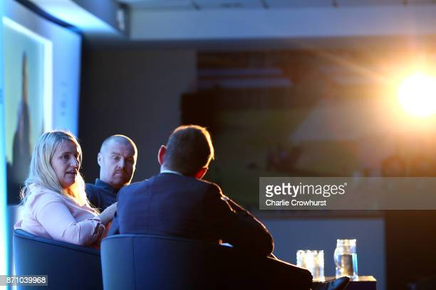 Chelsea Ladies manager Emma Hayes gives a talk on day one of the 2017 Leaders Sport Performance Summit at The Oval on November 6 2017 in London...