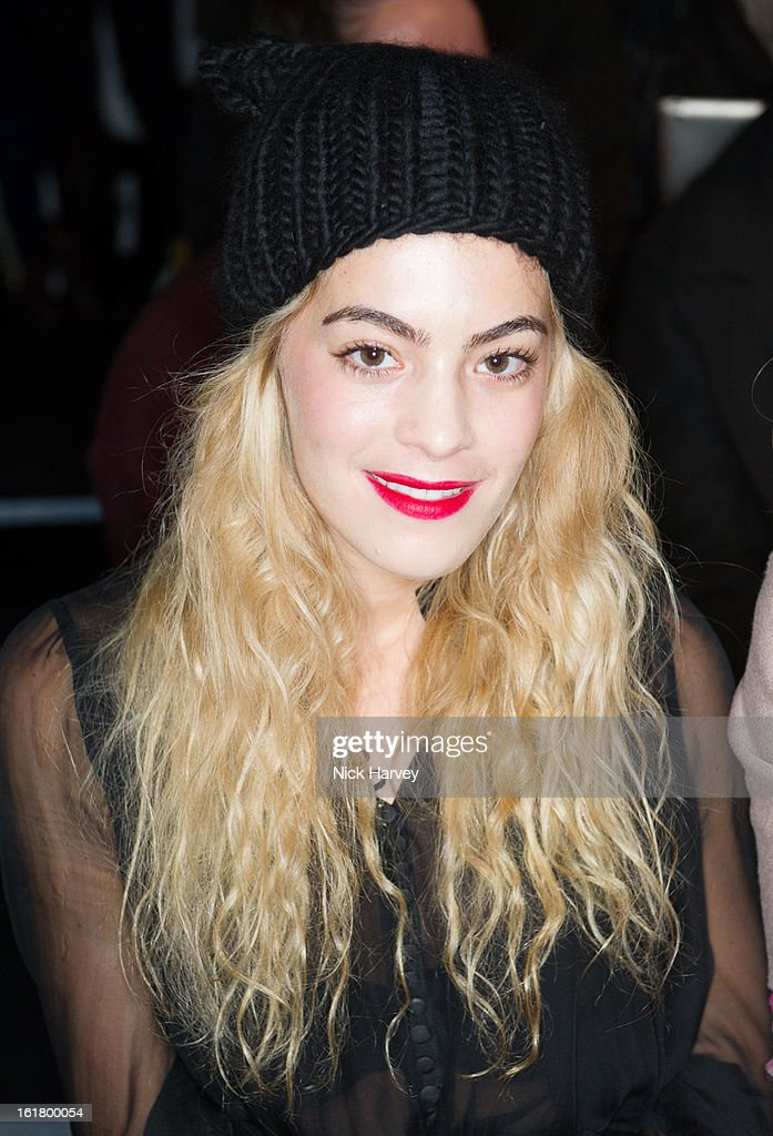 Chelsea Layland attends the Issa London show during London Fashion Week Fall/Winter 2013/14 at Somerset House on February 16, 2013 in London, England.