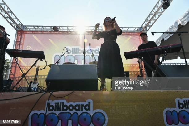 Chelsea Lee of Shaed performs during Day One of 2017 Billboard Hot 100 Festival at Northwell Health at Jones Beach Theater on August 19 2017 in...