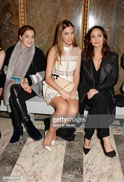 Chelsea Leyland Amber Le Bon and Natalie Imbruglia attend the Sass Bide A/W Show during London Fashion Week Fall/Winter 2015/16 at Australia House on...