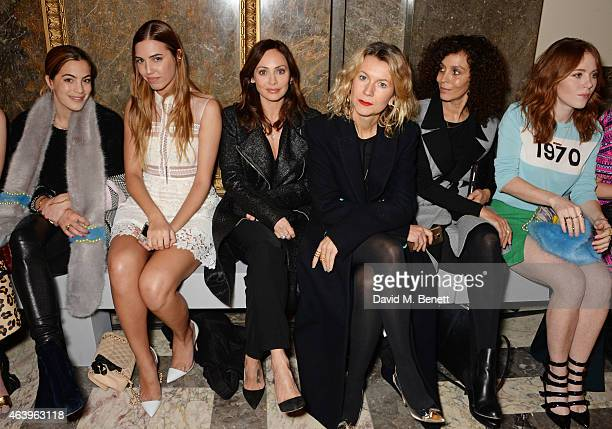 Chelsea Leyland Amber Le Bon Natalie Imbruglia Natalie Joos Jeanette Calliva and Angela Scanlon attend the Sass Bide A/W Show during London Fashion...