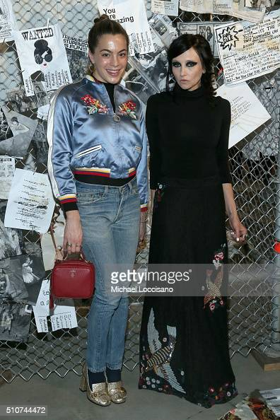 Chelsea Leyland and designer Stacey Bendet attend the alice olivia by Stacey Bendet Fall 2016 presentation at The Gallery Skylight at Clarkson Sq on...