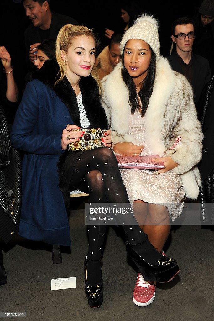 Chelsea Leyland and Hannah Bronfman attend the Jen Kao fall 2013 fashion show during Mercedes-Benz Fashion Week at Skylight Studios at Moynihan Station on February 9, 2013 in New York City.