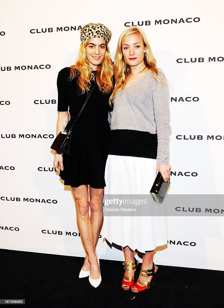 Chelsea Leyland (L) and Kate Foley attend the opening celebration of Club Monoco's Fifth Avenue Flagship at Club Monaco Fifth Avenue on November 7, 2013 in New York City.