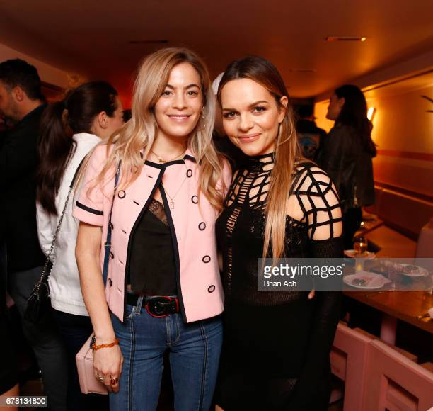 Chelsea Leyland and Maria Hatzistefanis pose for a photo together as Hatzistefanis and Brad Goreski host Rodial VIP Dinner on May 3 2017 in New York...