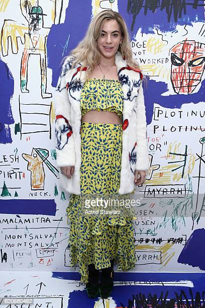 Chelsea Leyland attends the alice olivia x Basquiat CFDA Capsule Collection launch party on November 2 2016 in New York City